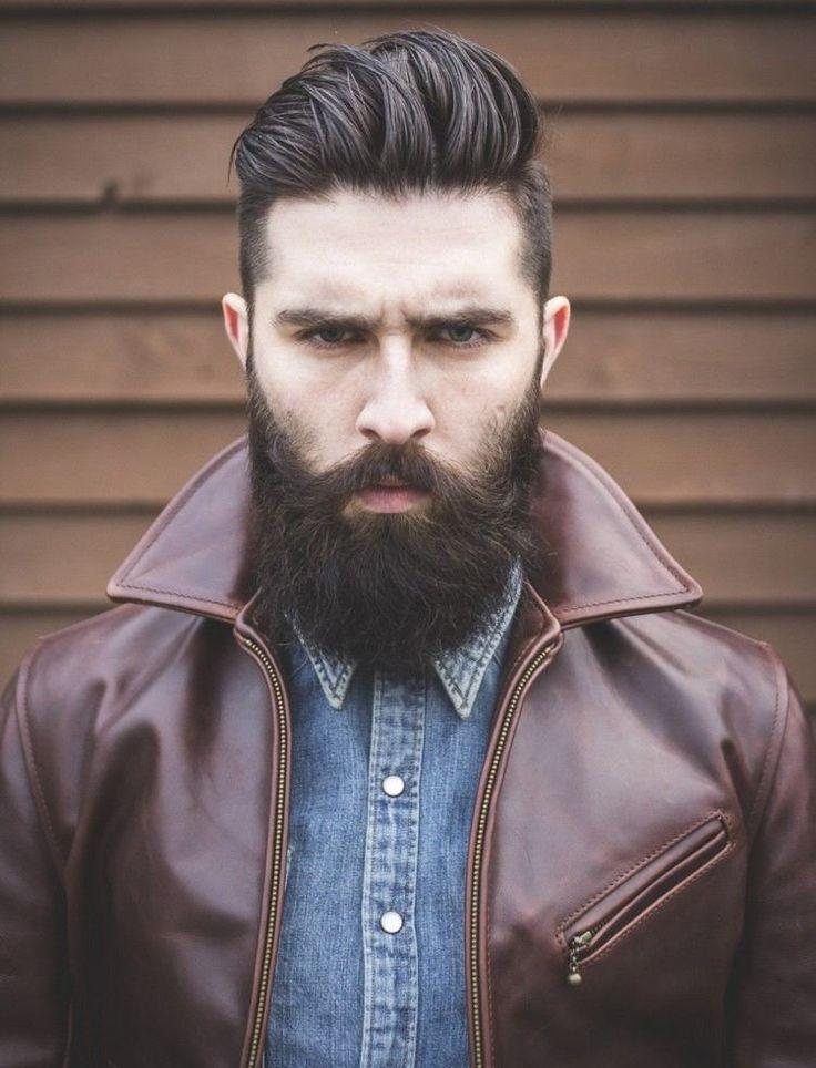 Undercut et Pompadour- un duo moderne à porter avec une barbe longue - coiffure homme tendance 2016/2017