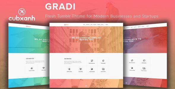 Gradi - Fresh #Tumblr Theme for Modern Businesses and Startups