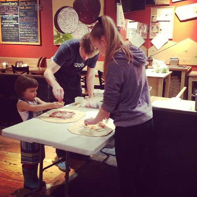 Kids pizza making tonight at 5!! See you soon! #RockyMountainFlatbread #Pizza #VancouverEats #FamilyNight #Nomms #Organic #Local