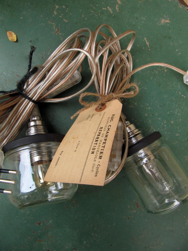 * s a n d r a c a l e f f i * jar lamps