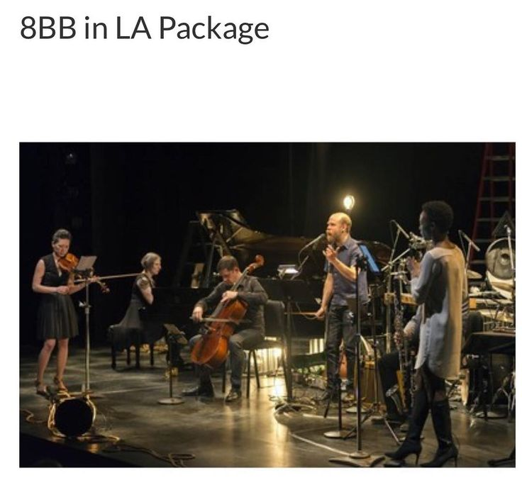 Sleep easy with a two-night stay at Ace Hotel in Downtown Los Angeles from April 20-21, 2018. Presented by the Center for the Art of Performance at UCLA, Eighth Blackbird will perform live with Will Oldham on April 21, 2018. Added bonus: thanks to our board member Chere Lott, we've arranged a 45 minute visit with Academy Governor Laura Karpman at her beachfront studio where you can dive into her world of music for film. - Bidding began today 4-11-17 and ends in 2 days.