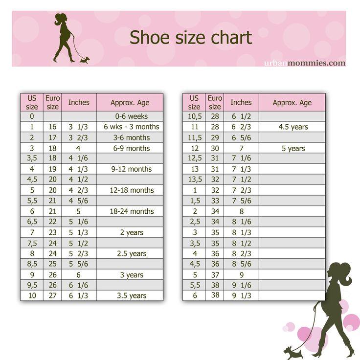 Kid S Shoe Size Chart Urban Mommies Shoe Size Chart Kids Baby Shoe Size Chart Baby Shoe Sizes