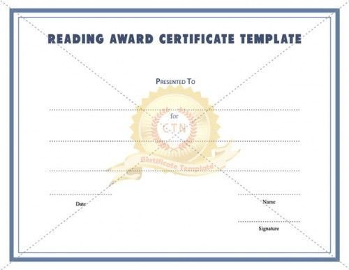 Best Award Certificate Template Images On