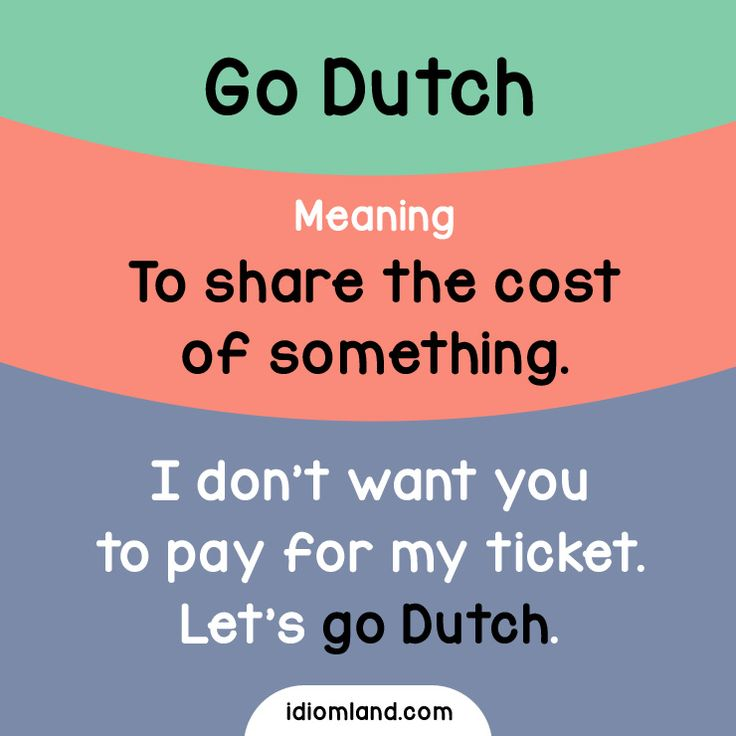 Do you go Dutch on a first date? #idioms #english #learnenglish #englishidioms