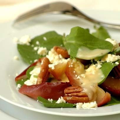 Baked Pink Lady® Apple Salad with Pecans and Feta