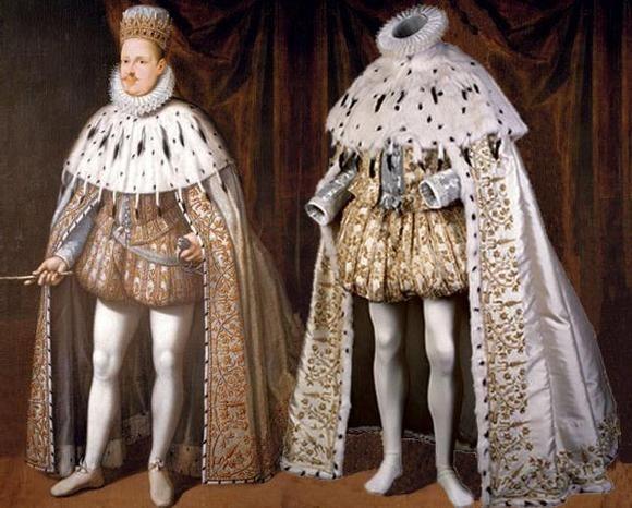 Barroco: La época del Barroco estuvo caracterizada por se la edad de la apariencia y la coquetería. Las cortes europeas enfatizaron su poder mediante el arte de la apariencia y la fastuosidad, por ello en su indumentaria personas de la realeza vestían pieles como símbolo de lujo.