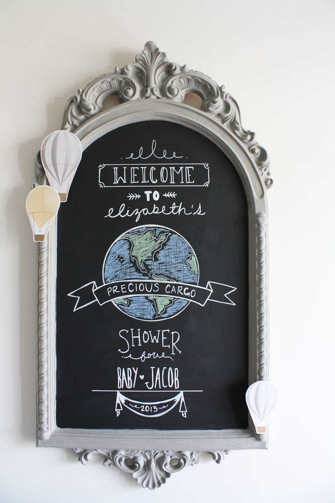Travel/adventure/precious cargo/special delivery Baby Shower Party Ideas | Photo 1 of 32 | Catch My Party
