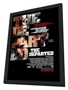 a the departed movie poster 27 x 40 in deluxe wood frame leonardo dicaprio a