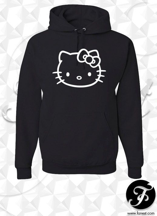 Hello Kitty Hoodie by NRvinyl on Etsy, $29.97