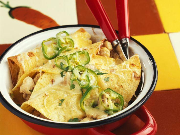 Découvrez la recette Enchiladas, poulet poivron et mozzarella sur cuisineactuelle.fr.