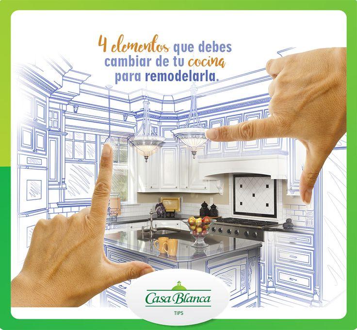 1)Las encimeras. na encimera práctica es fundamental. Puedes escoger entre encimeras de cocina laminadas, encimeras de granito, de cuarzo o de madera, etc. 2)Las campanas extractoras son uno de los elementos más visibles de nuestra cocina pero imprescindibles. Una cocina sin extractor es un lugar en el que es imposible cocinar. 3)El fregadero y el grifo. Dependiendo del espacio de tu cocina deberás escoger uno de un espacio o de dos. Además de los diversos modelos para llaves de fregadero…