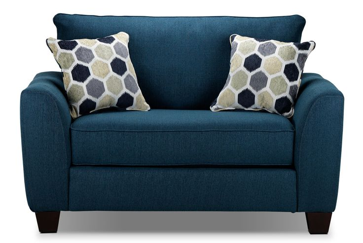 Living Room Furniture - Heritage Chair and a Half - Navy