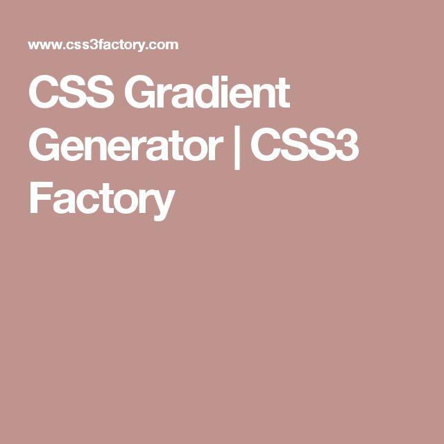 CSS Gradient Generator | CSS3 Factory