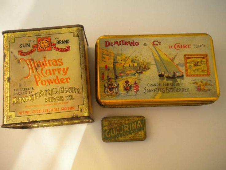 Scatole di latta - DIMITRINO & Co. - Madras Curry Powder - Guajrina (molto rara)