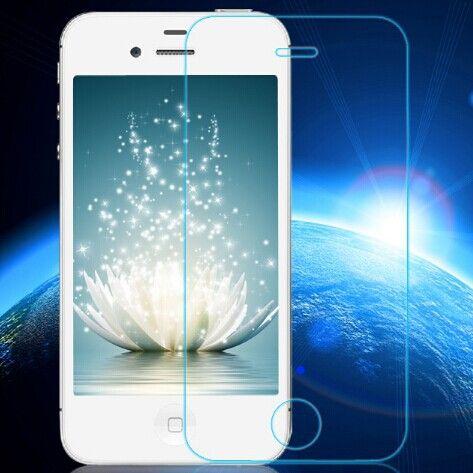 0.3ミリメートル強化ガラスのためのiphone 4 4 sでアークエッジ超薄型抗つぶす透明スクリーンプロテクターでクリーンツール
