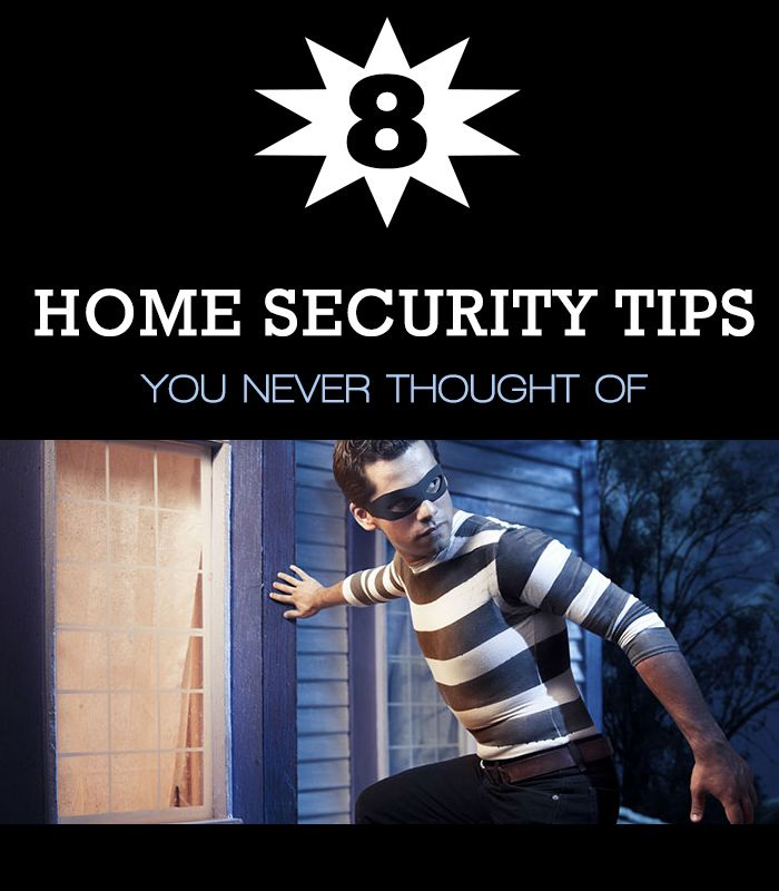 8 Home Security Tips You Never Thought of #homesecurity #safety