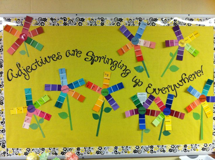 Adjectives are springing up everywhere bulletin board (I ...