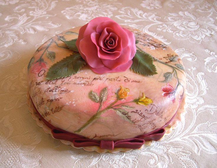 Torta dipinta ( s fotopostupem)