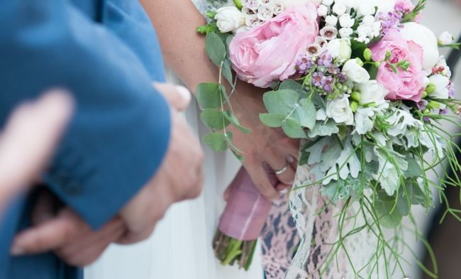 Elina's bridal bouquet with pink and white peonies. kefalonia wedding. Cleopatra's weddings & Event management
