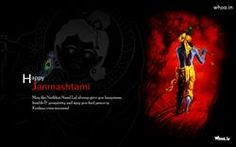 Happy Janmashtami Quotes With Murlimanohar HD Wallpaper,Happy Janmashtmi HD Wallpaper,Balgopal HD Images,Makhan Chor HD Wallpaper,Lord Krishna Images