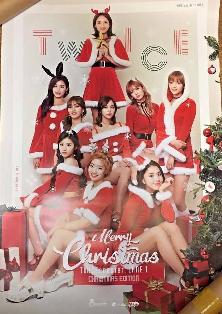 TWICE Poster NO Folded Official Christmas Edition 3rd Album TWICEcoaster LANE1_1    eBay