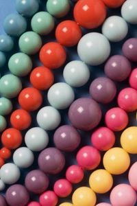 Pop beads or pop-it beads were one of the most ubiquitous fads during the 1950s. Made out of plastic, each bead connected to the next by a knob that pushed the bead into the next making a popping sound.