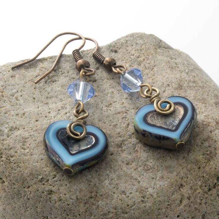 Unique Rabbit Jewellery - Pale Love Earrings, $22.00 (http://www.uniquerabbitjewellery.com.au/pale-love-earrings/)