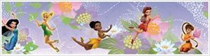 Large Disney Fairies Wall Decals and Borders- Tinker Bell - Removable Wall Decals for Decorating Nursery, Kids Room, Classroom or Playroom