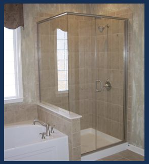 Semi-frameless shower glass enclosures are ideal for adding elegance and design to a bathroom.