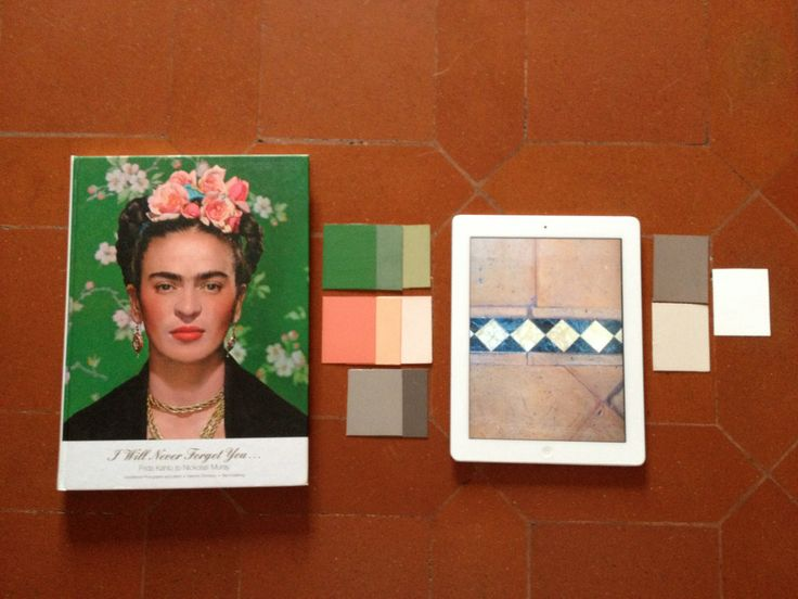 Inspiration Frida Kahlo.  Colour chips by The Paint Makers Co.