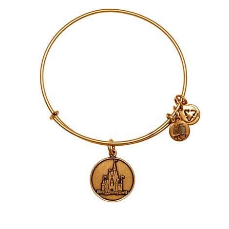 Your WDW Store - Disney Alex and Ani Charm Bracelet - Disney World Castle - Gold