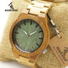 BOBO BIRD M006 Mens Top Brand Design Green Wood Dial Full Bamboo Wooden Quartz Watches Japan 2035 Miyota Movement OEM(China (Mainland))