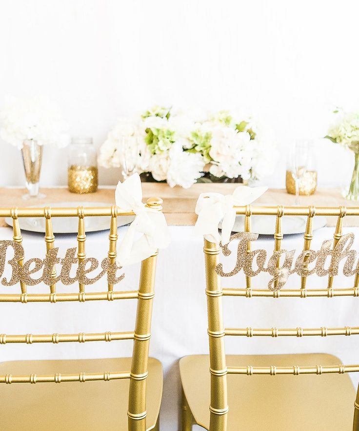 'Better' 'Together' Glitter Chair Sign Set