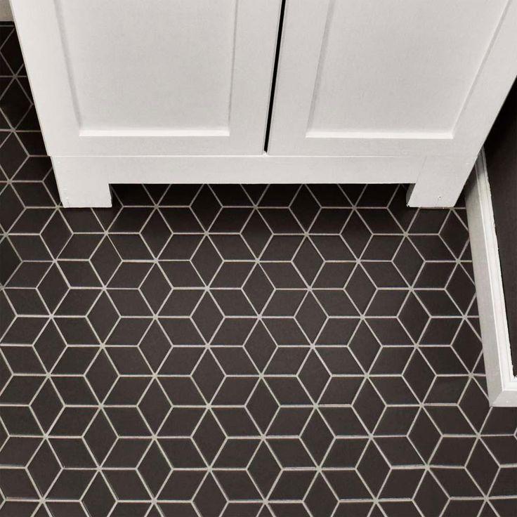 Merola Tile Metro Rhombus Matte Grey 10 1/2 In. X 12 1/8 In. X 5 Mm  Porcelain Mosaic Tile, Matte Grey/Low Sheen