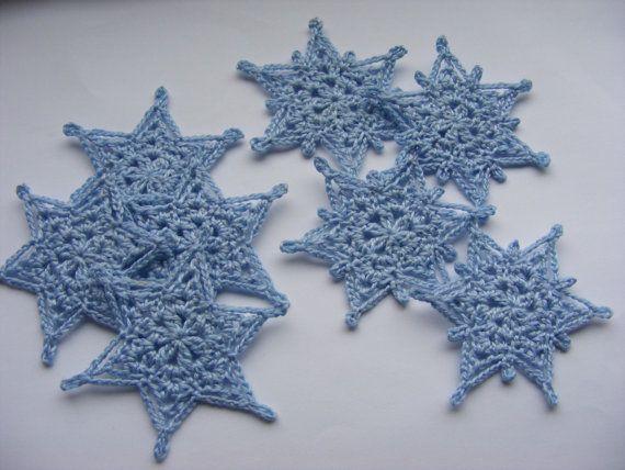Gehaakte sneeuwvlokken sneeuwvlok stoffen vakantie door Bbabscrochet