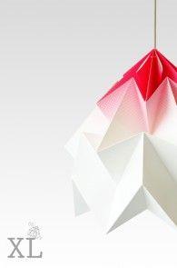 Moth XL gevouwen papieren origami lamp : Studio Snowpuppe papieren origami lampen, sinds 2010