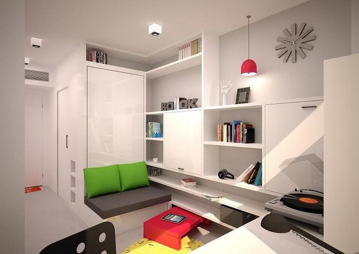 tiny apartment with fold down bed