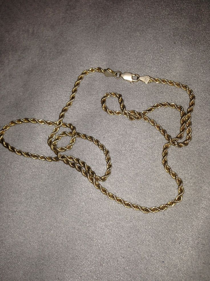 14k Gold 14 K Gold Rope Chain Size One Size $120 - Grailed