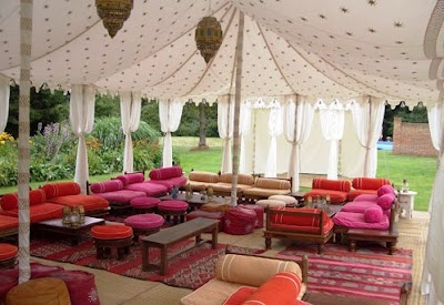 Indian wedding tent. An Indian Summer.