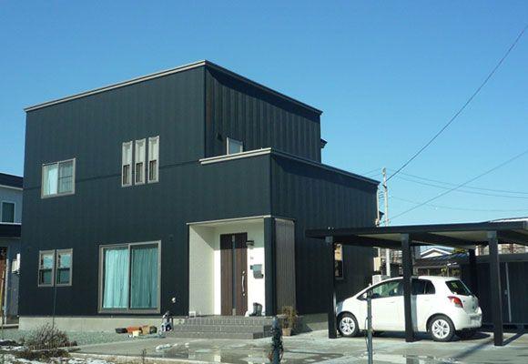 黒と白のハーモニーが美しい シンプル・モダンハウス   住まいるコンシェルジュ