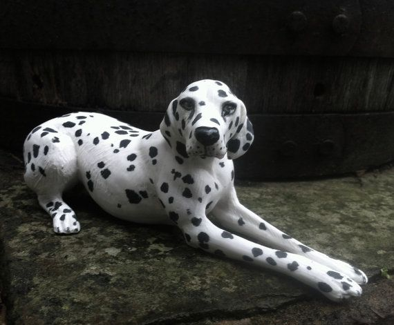 Dalmatian dog dog figurine dog sculpture by LivingCeramics on Etsy