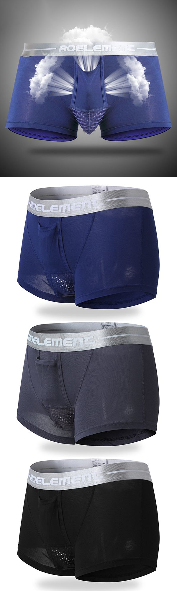 Mens Mesh Pouch Boxers: Hole Breathable