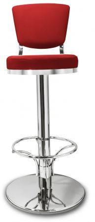 Gastro Barhocker Lindo mit Rückenlehne Farbe rot-Möbel-Star