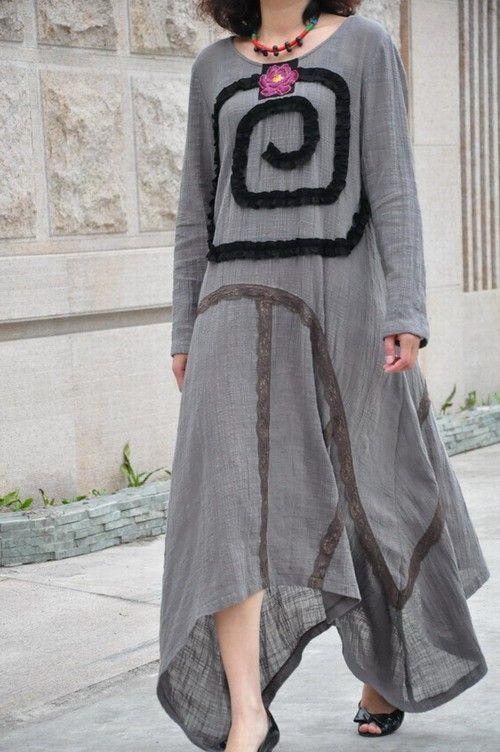 Secret veil/embroidery lace aymmetrical hem by KelansArtCouture, $75.00: