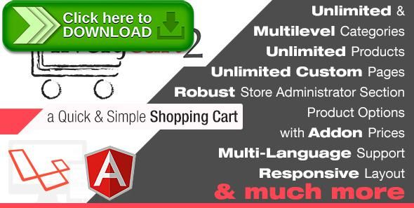 [ThemeForest]Free nulled download LivelyCart 2 - a Quick and Simple JavaScript PHP Shopping Cart from http://zippyfile.download/f.php?id=47923 Tags: ecommerce, angular, AngularJS, css3, e-commerce, html5, laravel, localization, multilevel categories, multilingual, paypal, responsive, shop, shopping cart, store