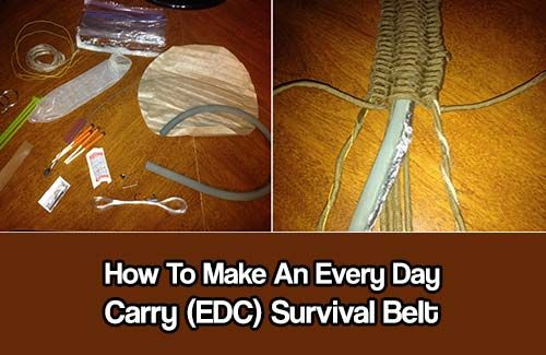 How To Make An Every Day Carry Belt. Being able to have emergency preparedness equipment on you at all times is the key to survival.