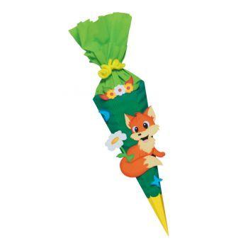 Geschwisterschultüte 3D Bastelset Fuchs-Bastelshop für Hobby und Creative Freizeit