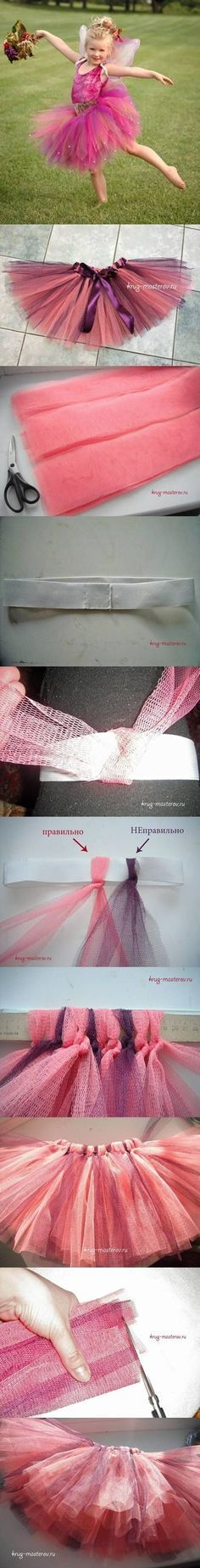 DIY Tutu Skirt for Girl Under 30 Minutes DIY Projects /...