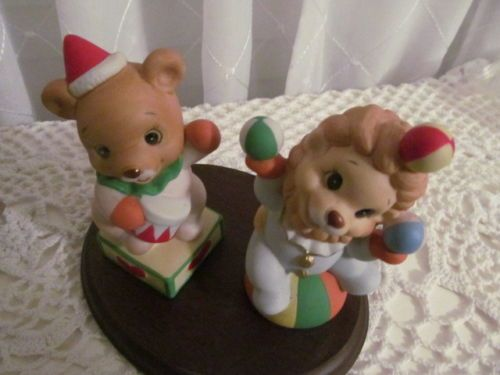 Home interior homco clown bear figurines 1423 set of 2 ebay
