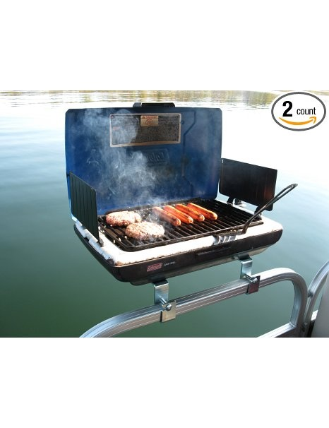 Sun Tracker Rail Mounted Propane Bbq Grill On The